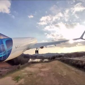 #insta360go 通販で買ったラジコン飛行機ボーイング737MAXロケットダッシュで離陸してみた