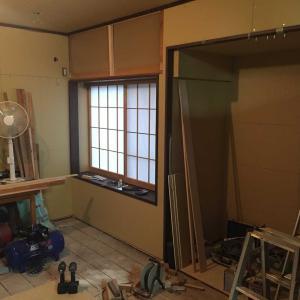 和室をキッチンとつなぎ洋間リビングへ改造する#3