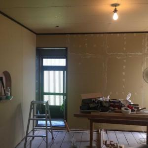 和室をキッチンとつなぎ洋間リビングへ改造する#4