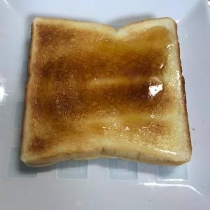 PFCバランスダイエット-80日目結果。禁断のハチミツバタートースト。