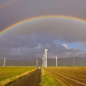 立派な虹だった、惜しいことをした