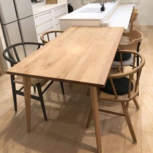【木製家具】ダイニングテーブルは『MOMO Natural(モモナチュラル)』でオーダーしました