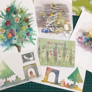 水彩画でクリスマスカードを描きませんか?