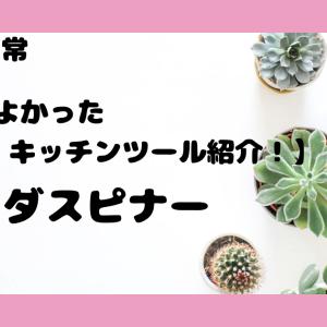 【買ってよかったキッチンツール紹介!】サラダスピナー