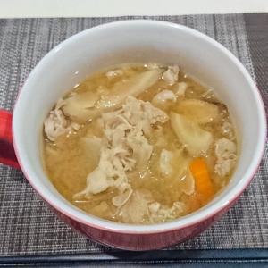 最強のスープ!具だくさんな豚汁を作ってみた。
