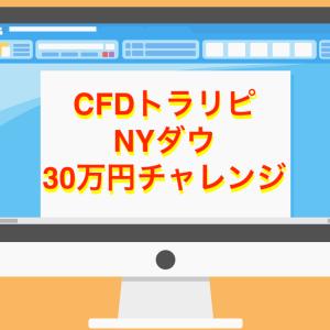 【CFDトラリピ NYダウ】資金30万円でどれくらい稼げるか 最新実績と設定を公開