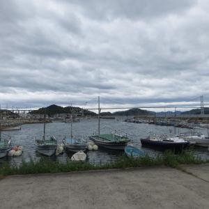 来島海峡大橋を眺めながらの海鮮料理