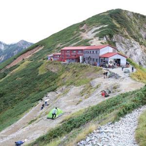 五竜岳から唐松岳プチ危険?な稜線への旅 二日目