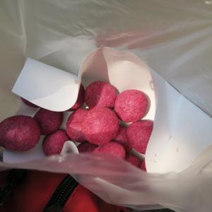 紫イモ揚げ菓子屋台 @シーロムsoi7辺り ~見つけたら買い!!~