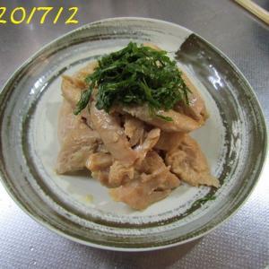 ●鶏ささみの味噌漬け焼きと夏煮物