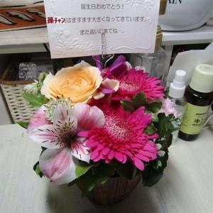 ●夏の花アレンジ♪ ...It was a present.