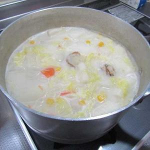 ●ホタテと冬野菜のミルクスープ♪