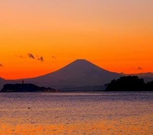 夕暮れ・富士!