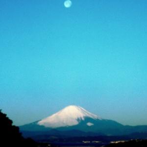 満月と富士!