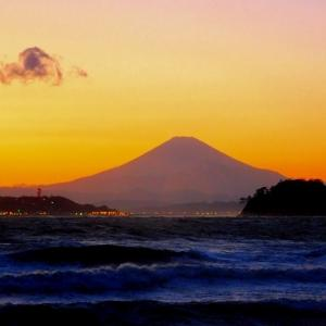 落日.富士!