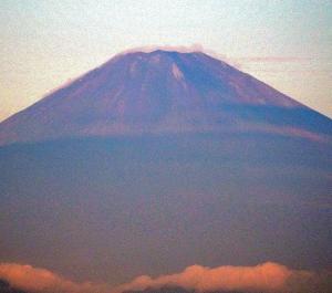 今朝の富士山!