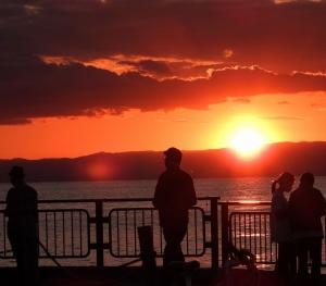 飯島の夕陽!