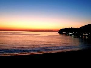 落日の逗子海岸!
