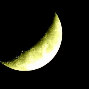 お月さん、こんばんは!