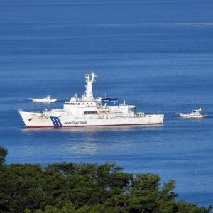 湘南の海に巡視船3隻停泊中!