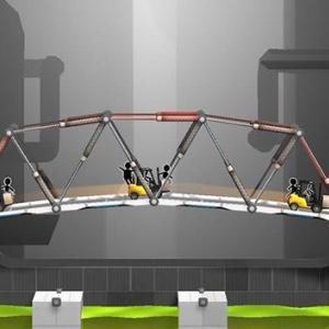 いかに壊れない橋を作るかを考えるゲームが面白い