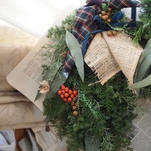 2018年から2019年 (3)11月終盤あたり。Christmas wreathレッスン