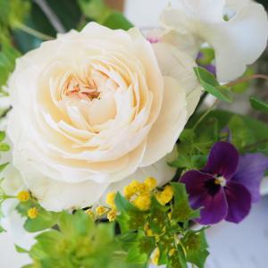 2020年1月レッスン 〜早春アレンジ 風薫る薔薇