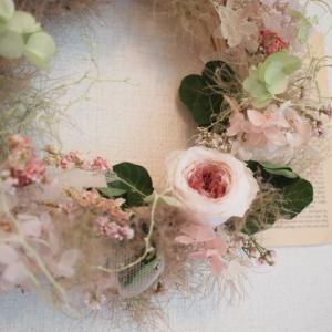 2019年6月のレッスン*June bride 〜tulle wreath(2)
