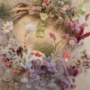 2019年6月のレッスン*June bride 〜tulle wreath(3)