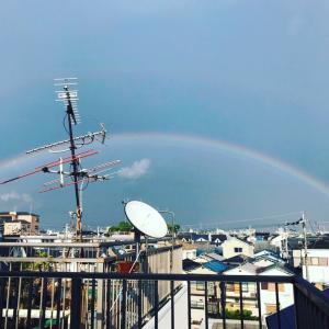神会テルミーで虹も出ました