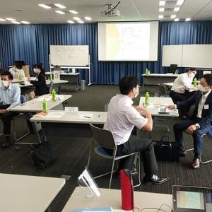 「商談力」強化セミナーを開催しました。リアル研修とオンラインZOOM研修を同時に行うハイブリッド型研修で盛り上げました。(大阪中小企業投資育成株式会社主催)