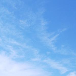 梅雨時期の貴重な青空