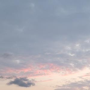 雨の間のちょっと夕焼け