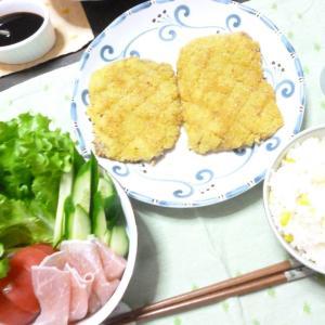 夫の夏ご飯とファンデのサンプル