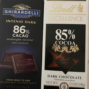 ダークチョコ食べ比べ – ギラデリとリンツ