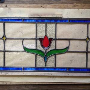 お花のステンドグラスパネル
