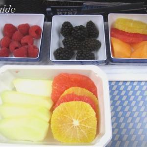 旅:ANAの機内食・フルーツプレート