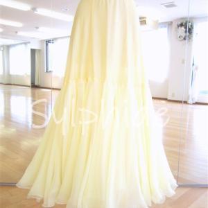 ドレスのスカートについて:ペチコート仕立て