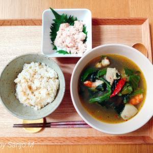 ●鶏肉と海老のエスニック風スープで代謝アップ