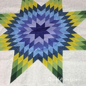 3㎝のひし形パターンスタンプを使って綺麗色のベツレヘムの星