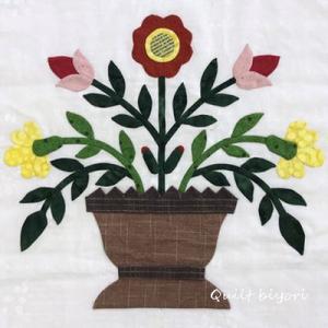 ボルティモアの花かごキルト&テトちゃまお耳自慢