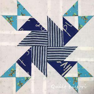 7月のサンプラーパターン「回る風車」&「この日」