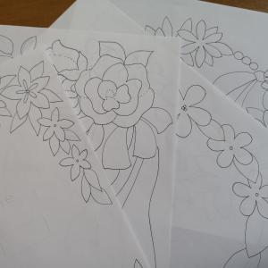 ウェディングボード型紙