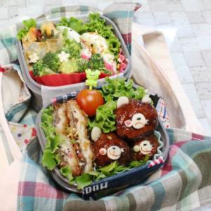 今日のお弁当・・スーパーのお惣菜・・シュウマイの皮包み焼き・・