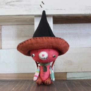 ハロウィンハットのちびくま・・かぼちゃうさぎ・・