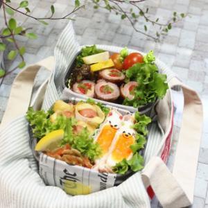 今日のお弁当・・ピーマンの肉巻き・・シュウマイの皮包み・・