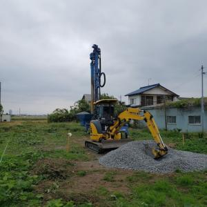 前橋市N邸様ログハウス 地盤改良工事!