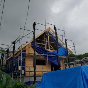 奈良県生駒市S邸様屋根垂木、野地板施工。