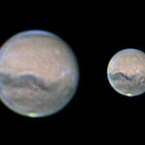 火星と天王星を見る 2020/10/01~02