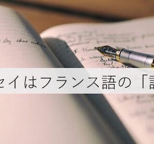 「エッセイ」とは試論、私論あるいは論考ーーある省察と覚え書き
